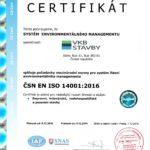 Certifikace ISO 14001:2016